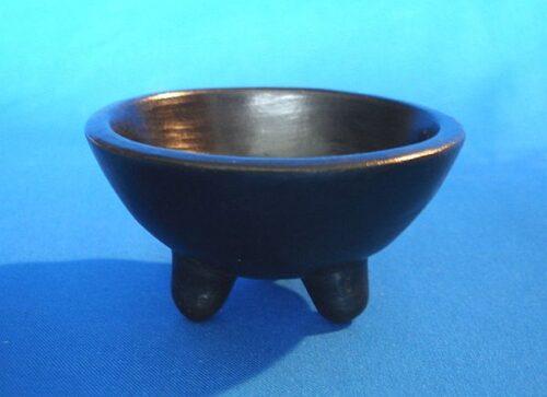 Hexen-Räucherschale Keramik schwarz
