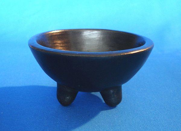 Hexen-Räucherschale Keramik schwarz 1