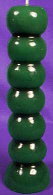 7 Tage Knopfkerze grün